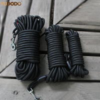 Strong Nylon Dog Leash Long Tracking Round Rope Outdoor  Walking Training Pet Leads 5m 10m 15m Leashes For Medium Larger Dogs