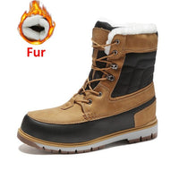 ZUNYU Winter With Fur Snow Boots For Men Sneakers Male Shoes Adult Casual Quality Waterproof Ankle -30 degree Celsius Warm Boots