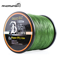 Angryfish Wholesale 1000Meters 8x Braided Fishing Line 11 Colors Super PE Line