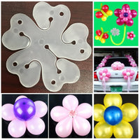 NEW 10pcs Flower Balloons Decoration Accessories Plum Clip Practical Birthday wedding party  Plastic Clip Globos balloon