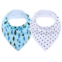2Pcs/Lot Baby Bandana Bibs Extra Soft Natural Cotton Baby Drool Bib for Drooling and Teething Super Absorbent Baby Shower Gifts