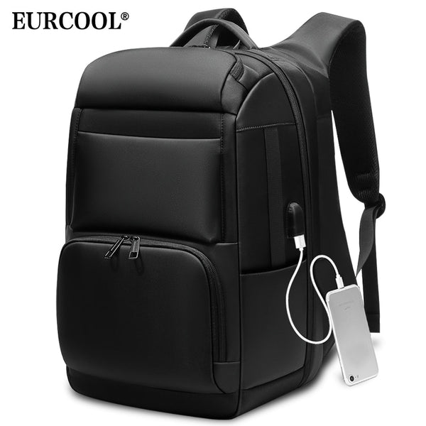"Men Travel Backpack Large Capacity Teenager Male Mochila Back Anti-thief Bag USB Charging 17.3"" Laptop Backpack Waterproof n0007"