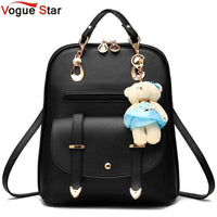 Vogue Star 2019 women backpack leather backpacks women travel bag school bags backpack women's travel bags Rucksack bolsas LS535