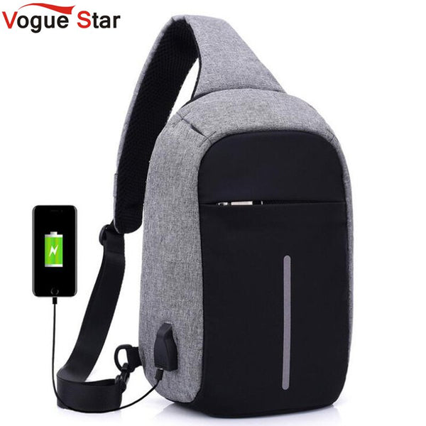 External USB Charge Chest Bags Men Chest Pack Antitheft Travel Crossbody Bag For Men Casual Sling Shoulder Bag backpack LB663