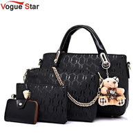 Vogue Star Women Bag Top-Handle Bags Female Famous Brand 2019 Women Messenger Bags Handbag Set PU Leather Composite Bag LB464