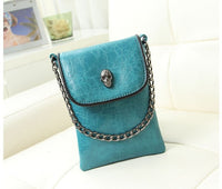 Vogue Star 2019 New Arrival Fashion Shoulder Cross-body Small Bags Skull Chain Mobile Phone Bag Women's  Messenger bag YK40-371