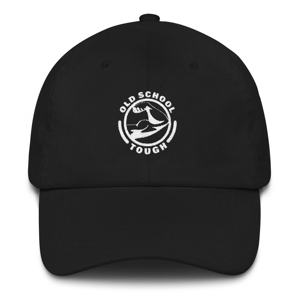 Black Old School Tough Embroidered Hat