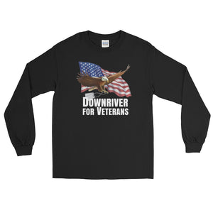 Black Downriver For Veterans Long Sleeve T-Shirt