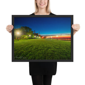 Bishop Park Fire In The Sky Framed Poster (4 sizes)