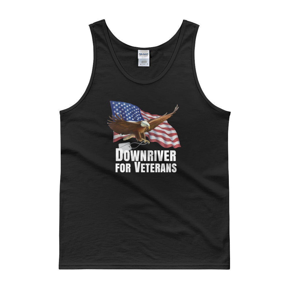 Black Downriver For Veterans Tank top
