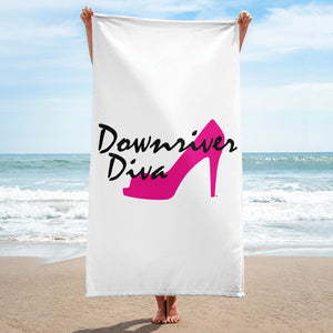 Downriver Diva Beach Towel