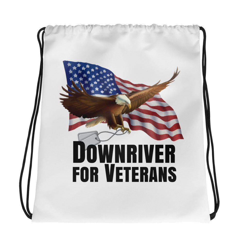 Downriver For Veterans Drawstring bag