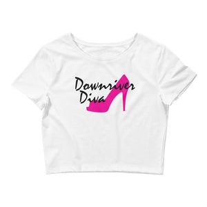 Downriver Diva Women's Crop Tee (1 color)