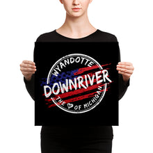 Canvas Print Wyandotte Michigan Downriver Flag