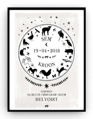 BIRTHPOSTER - Farm Animals