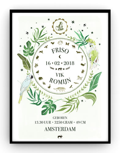 Botanical Birthposter