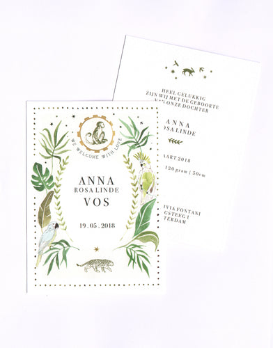 Birth Announcement Cards - Botanical