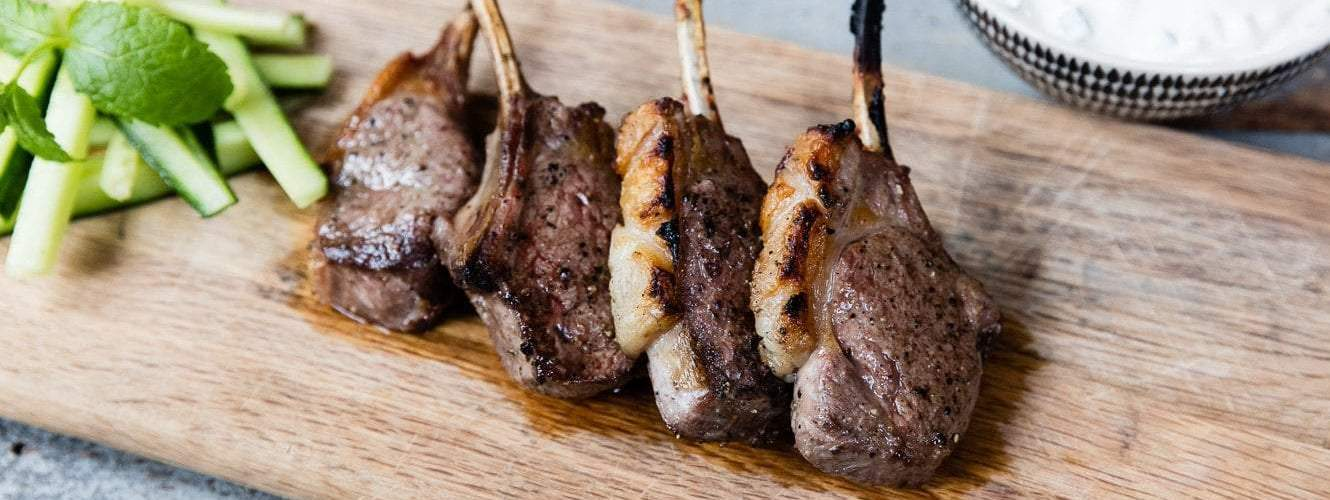 Marinated Lamb Cutlets with Tzatziki   Our 12 Favourite Ooni Recipes   Outdoor Concepts NZ