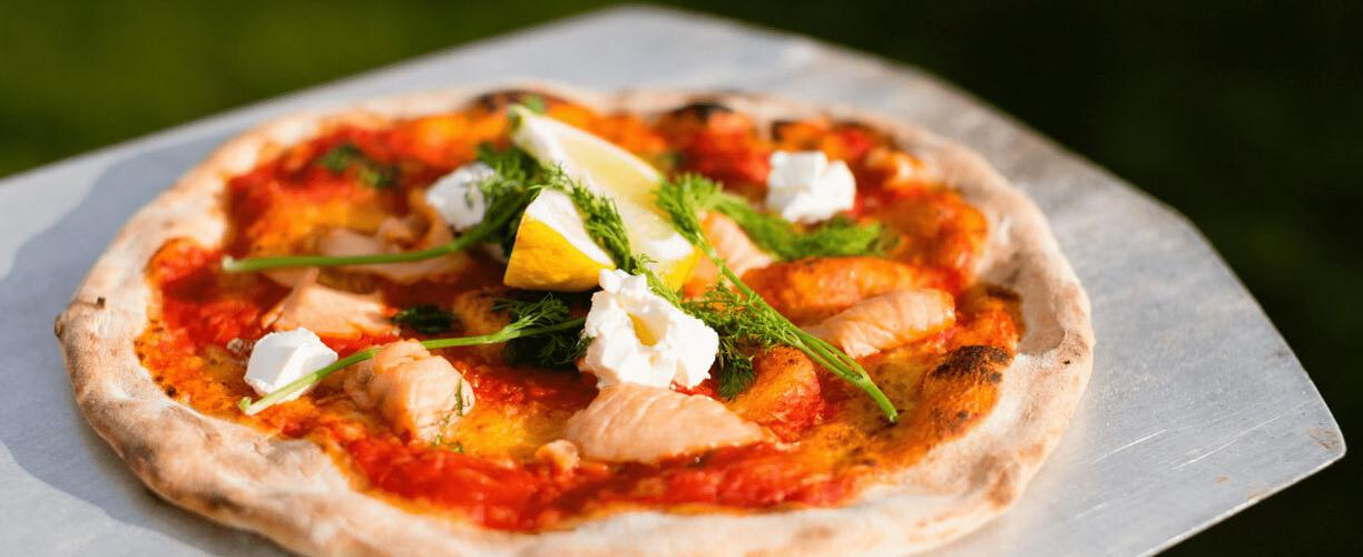 Scandinavian Salmon and Cream Cheese Pizza   Our 12 Favourite Ooni Recipes   Outdoor Concepts NZ