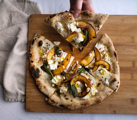 Roast Butternut Squash, Ricotta, Chilli & Sage Pizza