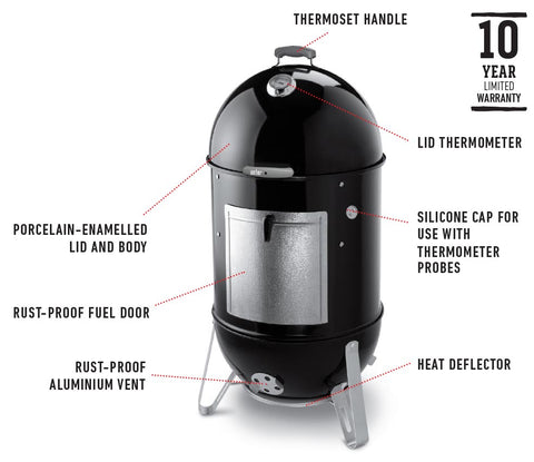 WEBER 57CM SMOKEY MOUNTAIN | BBQs NZ | Weber NZ | Smokers | Outdoor Concepts