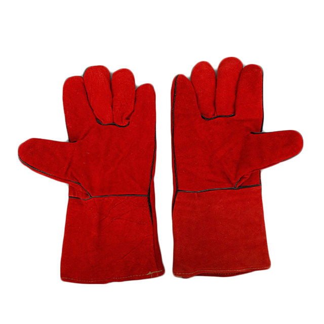 KINGFISHER LEATHER GLOVES RED (PAIR)