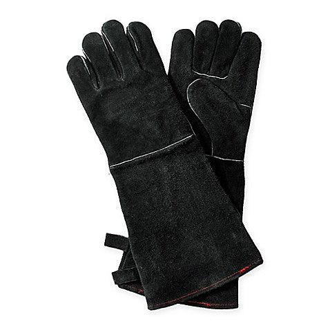 KINGFISHER LEATHER GLOVES BLACK (PAIR) | BBQs NZ | General | Outdoor Concepts NZ