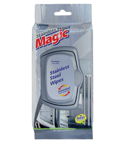 STAINLESS STEEL MAGIC WIPES (20PK)