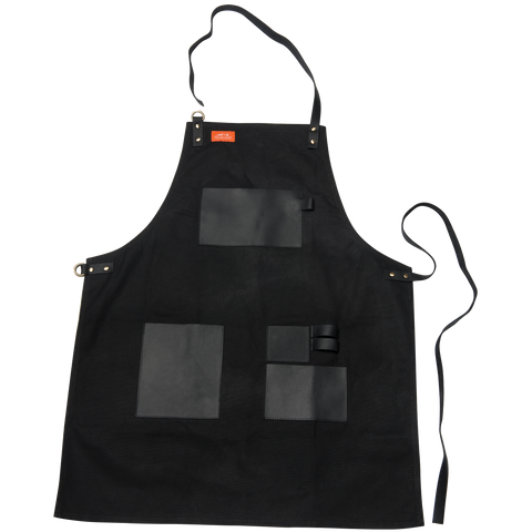 Traeger Apron Black Canvas and Leather