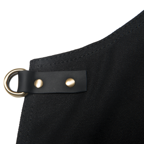 TRAEGER APRON - BLACK CANVAS AND LEATHER | BBQs NZ | Traeger | Outdoor Concepts NZ
