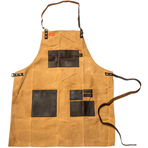 Traeger Apron Brown Canvas and Leather