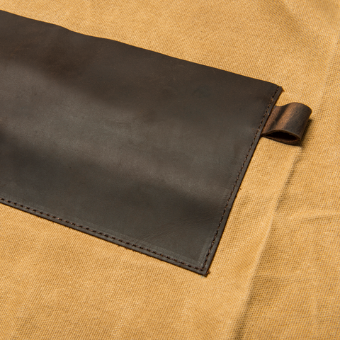 TRAEGER APRON - BROWN CANVAS AND LEATHER