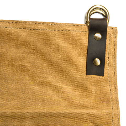 TRAEGER APRON - BROWN CANVAS AND LEATHER | BBQs NZ | Traeger | Outdoor Concepts NZ