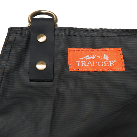 TRAEGER APRON - BLACK WAXED CANVAS AND LEATHER | BBQs NZ | Traeger NZ | | Outdoor Concepts