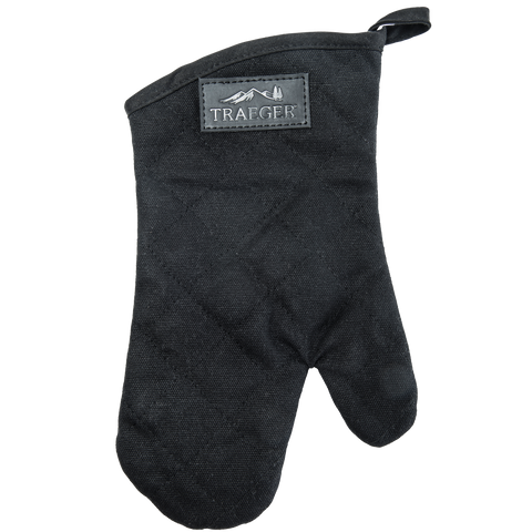 TRAEGER BBQ MITT - BLACK CANVAS AND LEATHER | BBQs NZ | Traeger | Outdoor Concepts NZ