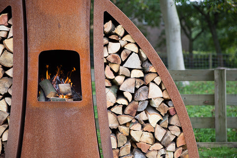 SEBIOS TENDU SET CORTEN FIREPLACE