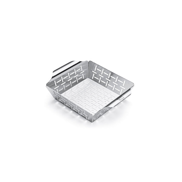 WEBER STAINLESS VEGETABLE BASKET SMALL | BBQs NZ | Weber | Outdoor Concepts NZ
