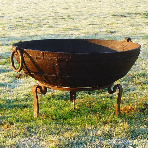 update alt-text with template KADAI ORIGINAL FIREBOWL WITH TRIPOD STAND | Outdoor Fires NZ | Kadai NZ | Outdoor Fires, outdoor wood | Outdoor Concepts NZ