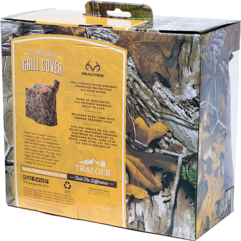 TRAEGER REALTREE CAMO COVER PRO 22 | BBQs NZ | Traeger NZ | Accessories, Covers | Outdoor Concepts