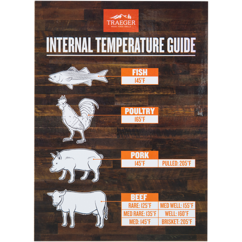 Traeger Internal Temperature Guide Magnet