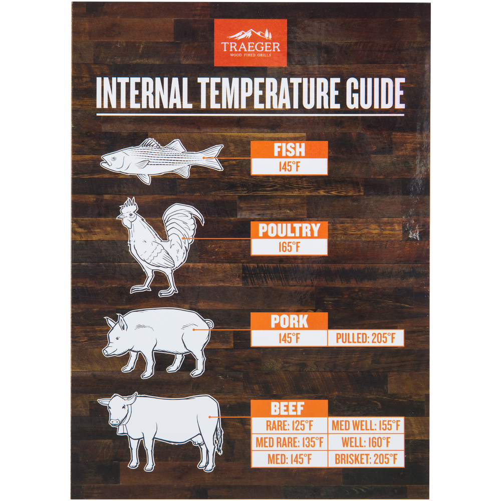 Traeger Internal Temperature Guide Magnet | BBQs NZ | Traeger NZ | Accessories | Outdoor Concepts