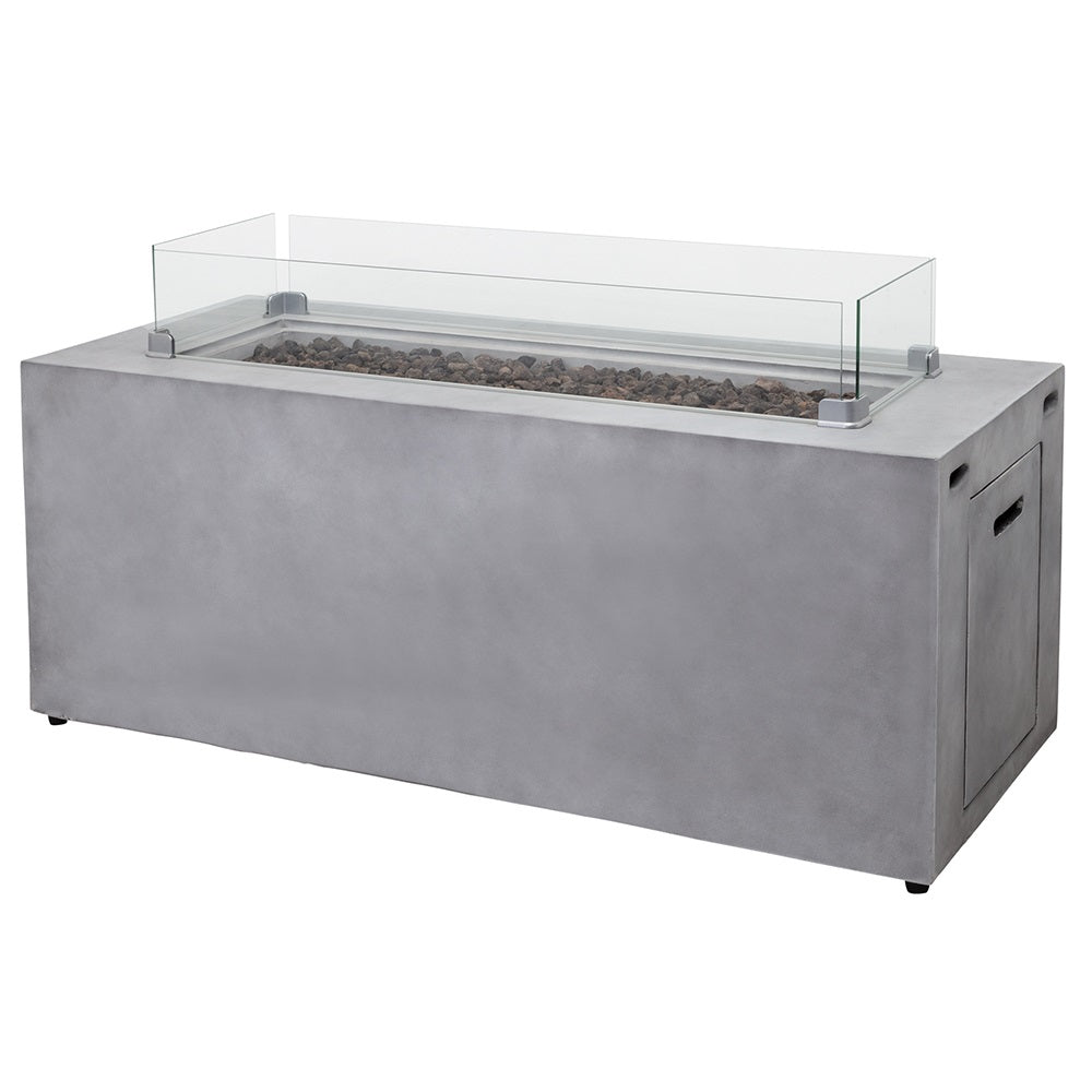 GASMATE CINDER RECTANGULAR FIRE TABLE HIGH | Outdoor Fires NZ | Gasmate NZ | Outdoor Fires | Outdoor Concepts