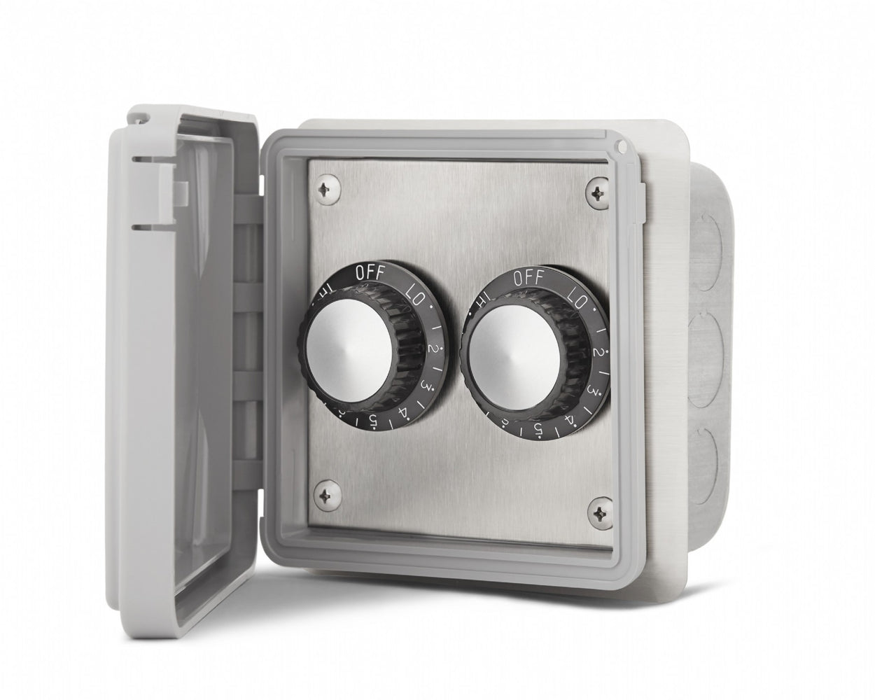 INFRATECH DUAL FLUSH MOUNT REGULATOR W/ WEATHER PROOF BOX