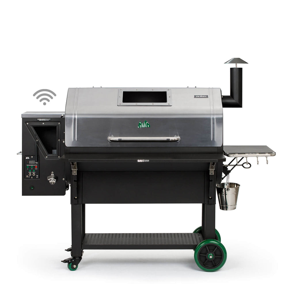 GMG JIM BOWIE PRIME PLUS STAINLESS STEEL | BBQs NZ | Green Mountain Grills NZ | Smokers | Outdoor Concepts