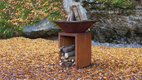 OFYR 100/100 CORTEN STORAGE | Outdoor Fires NZ | Ofyr NZ | Outdoor Fires, Outdoor Wood | Outdoor Concepts