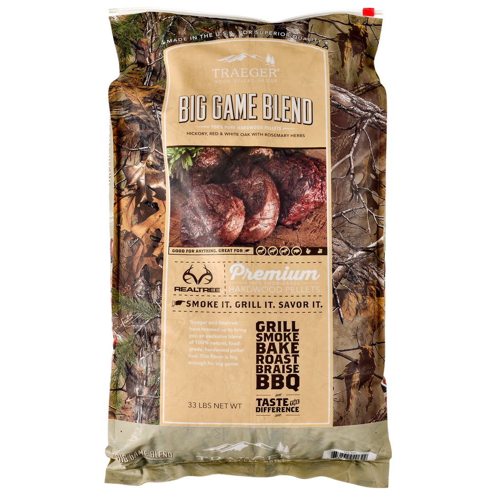 TRAEGER REALTREE BIG GAME PELLETS 33LB | BBQs NZ | Wood Pellets NZ | Fuels | Outdoor Concepts