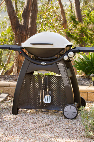 WEBER FAMILY Q (Q3100) BBQ TITANIUM | BBQs NZ | Weber | Outdoor Concepts NZ