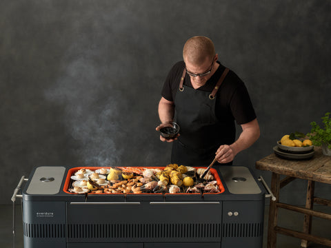 EVERDURE HUB ELECTRIC IGNITION CHARCOAL BBQ | BBQs NZ | Everdure NZ | Charcoal | Outdoor Concepts
