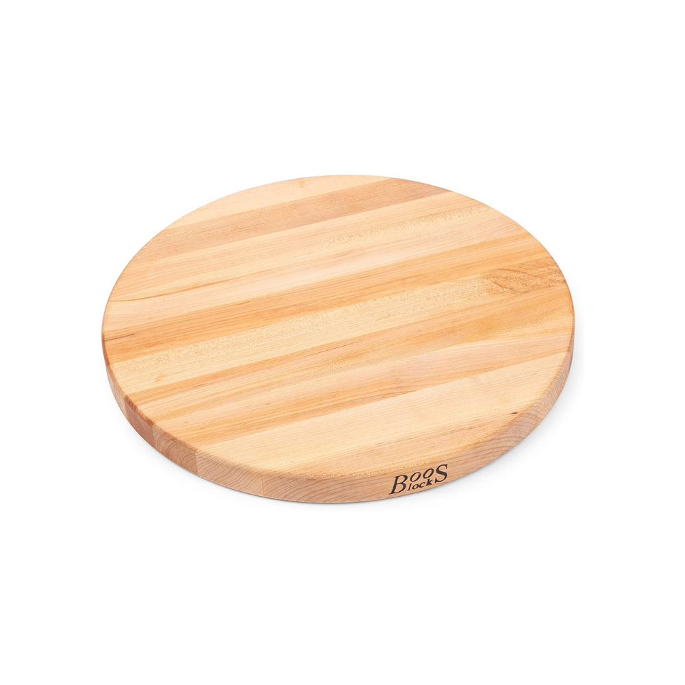 BOOS BLOCK R18 MAPLE WOOD EDGE GRAIN REVERSIBLE ROUND CUTTING BOARD 46CM | BBQs NZ | John Boos & Co. NZ | Accessories, Cutting Board | Outdoor Concepts