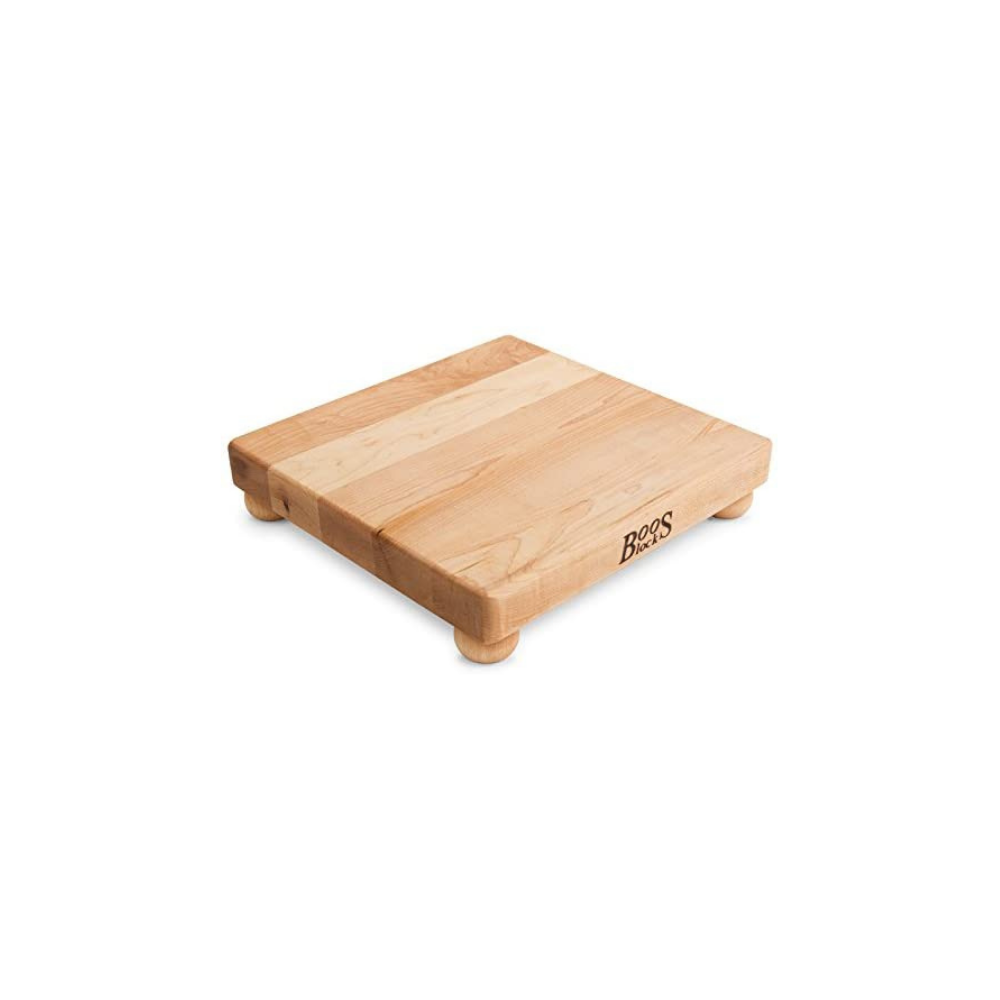 BOOS BLOCK B12S MAPLE WOOD EDGE GRAIN CUTTING BOARD WITH FEET 30 CM SQUARE | BBQs NZ | John Boos & Co. NZ | Accessories, Cutting Board | Outdoor Concepts